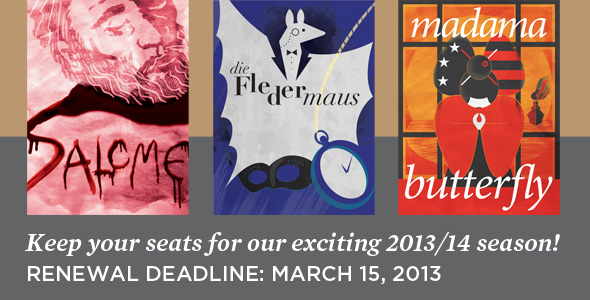 Subscribe now for the 2013/14 season!