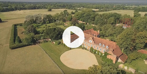 Aerial film of West Horsley Place