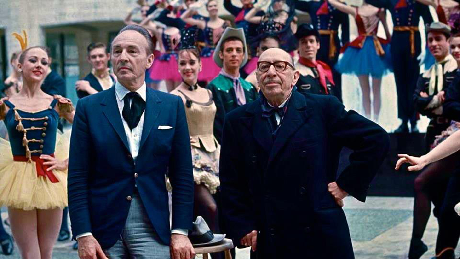 George Balanchine, left, and Igor Stravinsky at Lincoln Center.