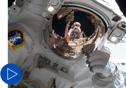 View of STS-129 MS2 Bresnik during EVA2