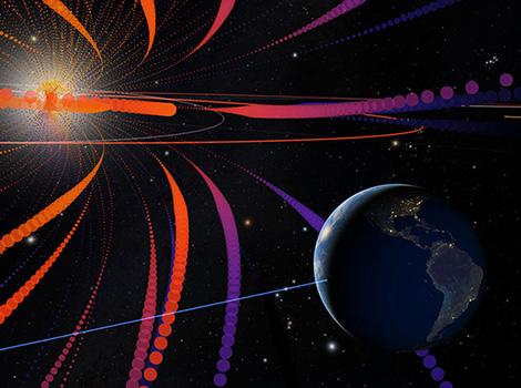 Rendering of solar weather.