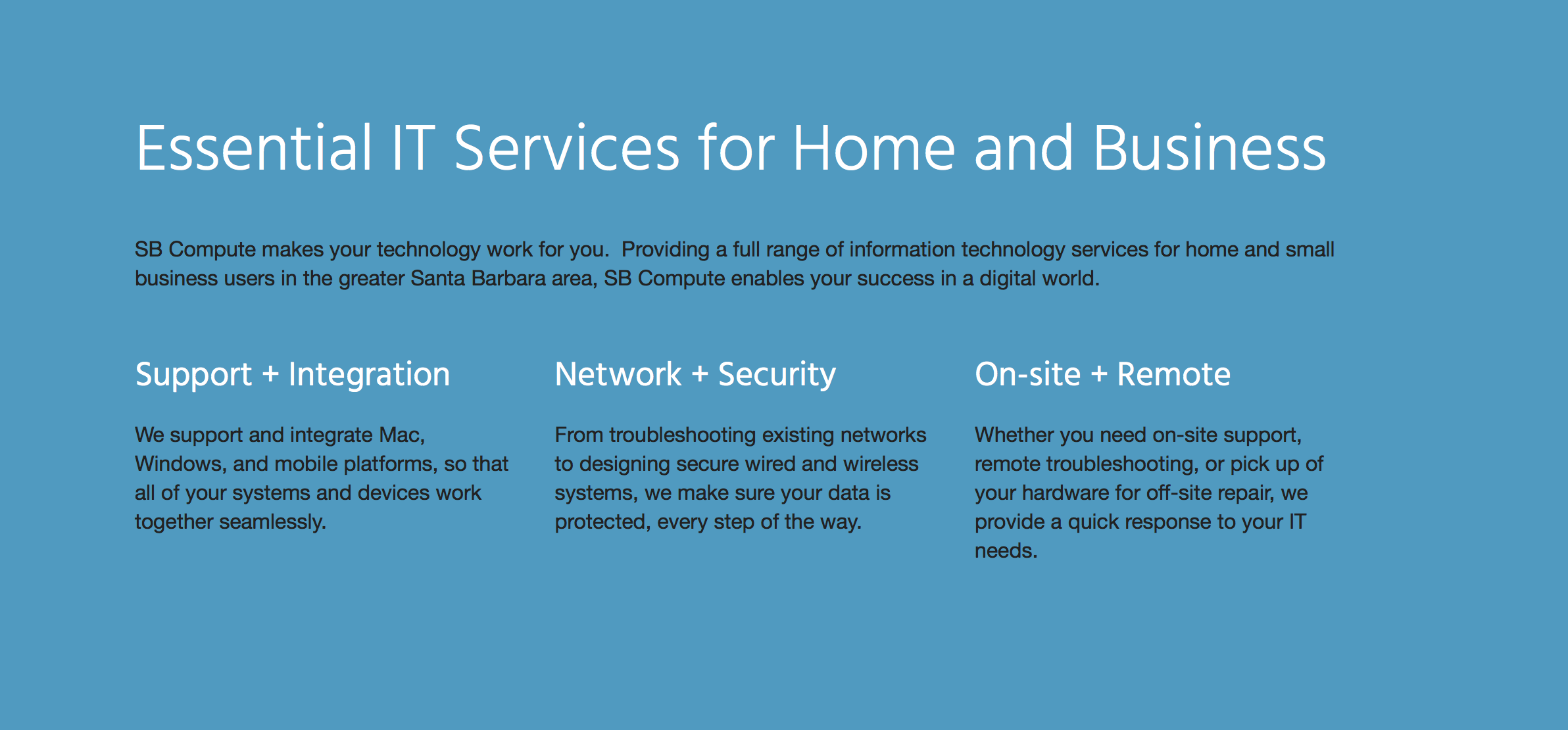 Essential IT Services for Home and Business