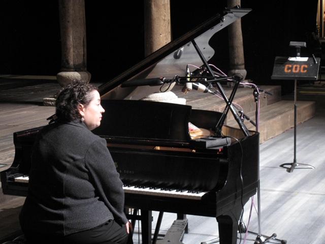 Liz at the piano