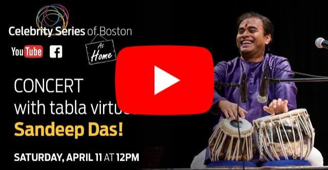 Celebrity Series at Home Virtual Concert with Sandeep Das