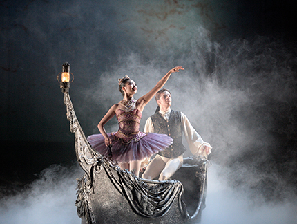Shiori Kase and Joseph Caley in The Sleeping Beauty. Photography by Laurent Liotardo.