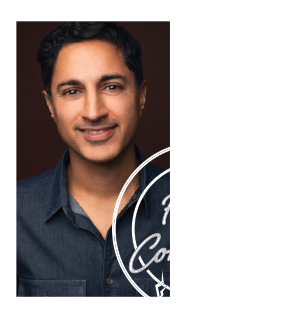 Maulik Pancholy & Fully Committed Logo