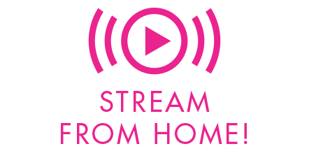 Stream From Home Symbol