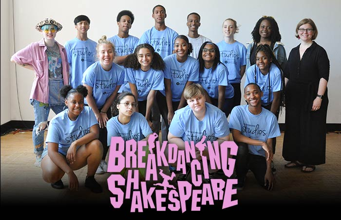 The cast and artistic team of Breakdancing Shakespeare: A Midsummer Night's Dream.