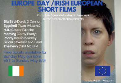 Promo poster for Europe Day / Irish European Short Films