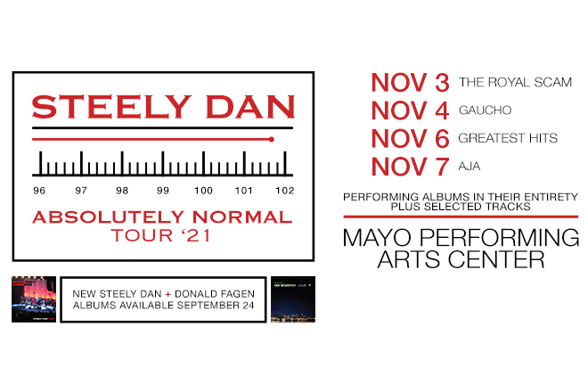 Image of Steely Dan With Dates November 3, 4, 6 and 7