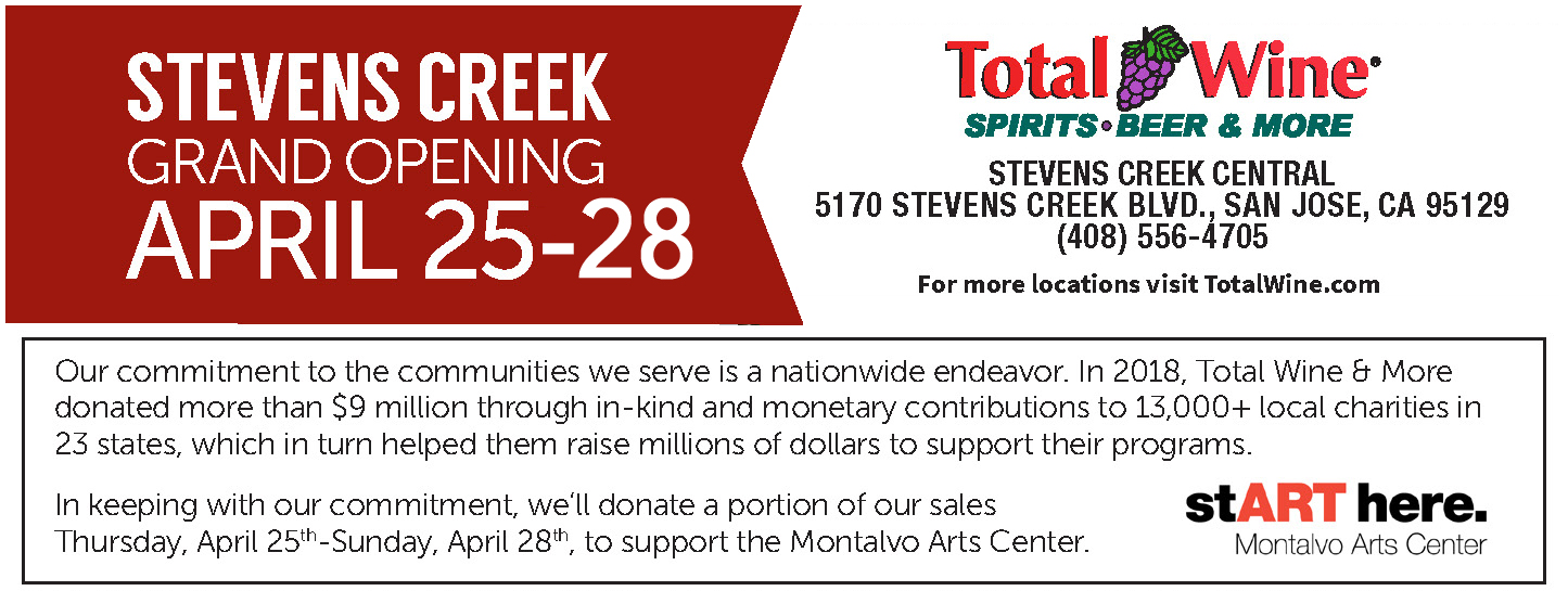 Total Wine & More Grand Opening: April 25 - 28. A portion of sales during the Grand Opening benefit Montalvo!