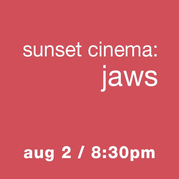 Sunset Cinema: Jaws - Aug 2, 8:30pm