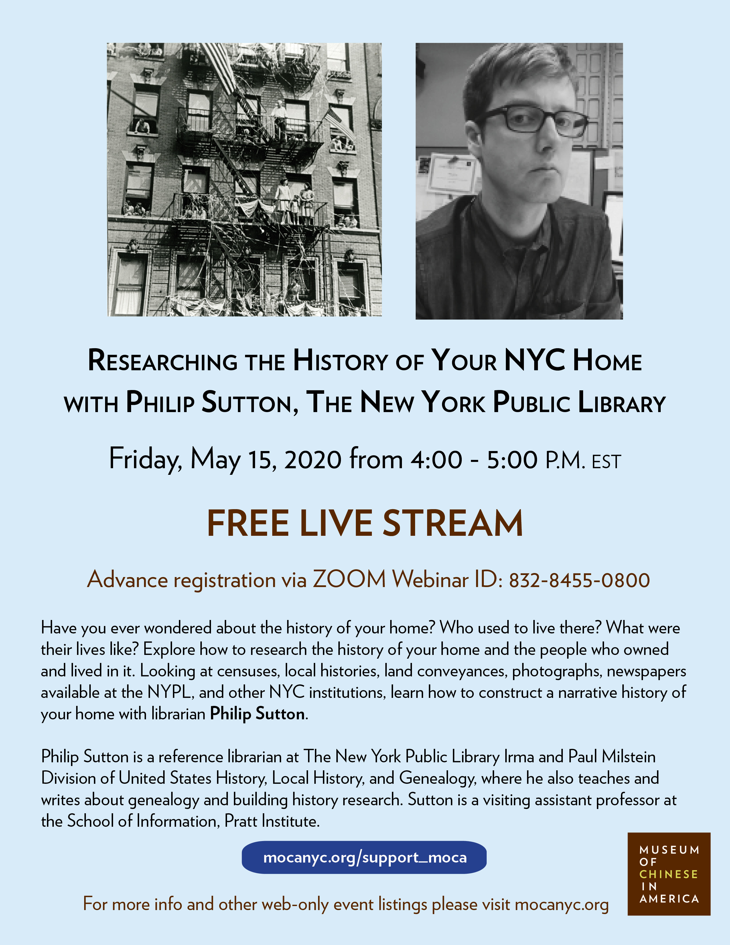 [LIVE STREAM] Researching the History of Your NYC Home with the NYPL
