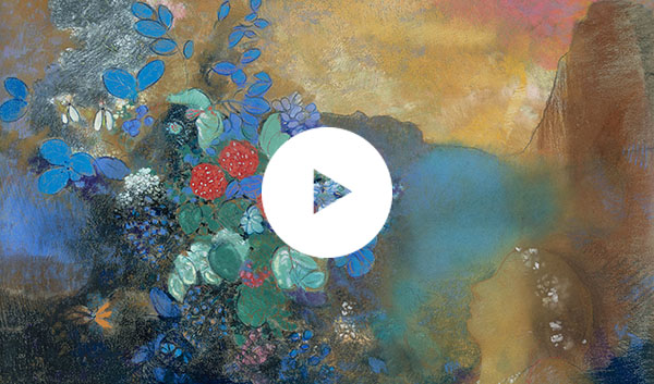 Detail from Odilon Redon, 'Ophelia among the Flowers', about 1905-8 © The National Gallery, London