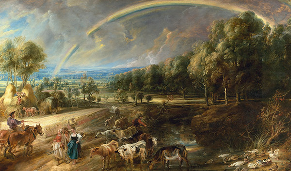 Detail from Peter Paul Rubens, 'The Rainbow Landscape', c.1636. © The Trustees of the Wallace Collection, London