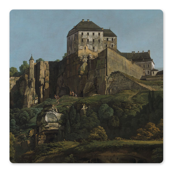 Bernardo Bellotto, 'The Fortress of Königstein from the North', 1756–8 © The National Gallery, London
