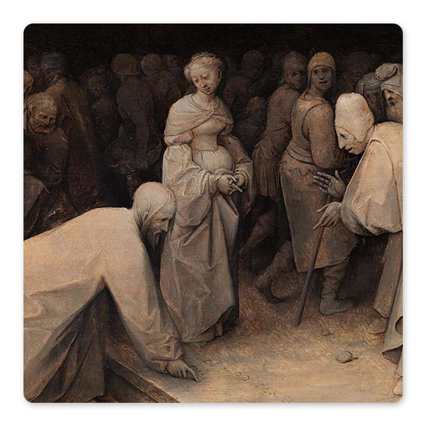 Pieter Bruegel the Elder, 'Christ and the Woman taken in Adultery', 1565 © The National Gallery, London