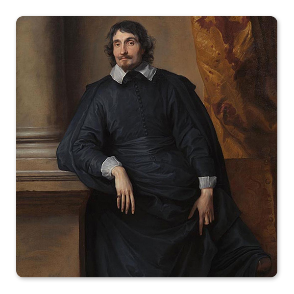 Anthony van Dyck, Portrait of the Abbé Scaglia, 1634 © The National Gallery, London