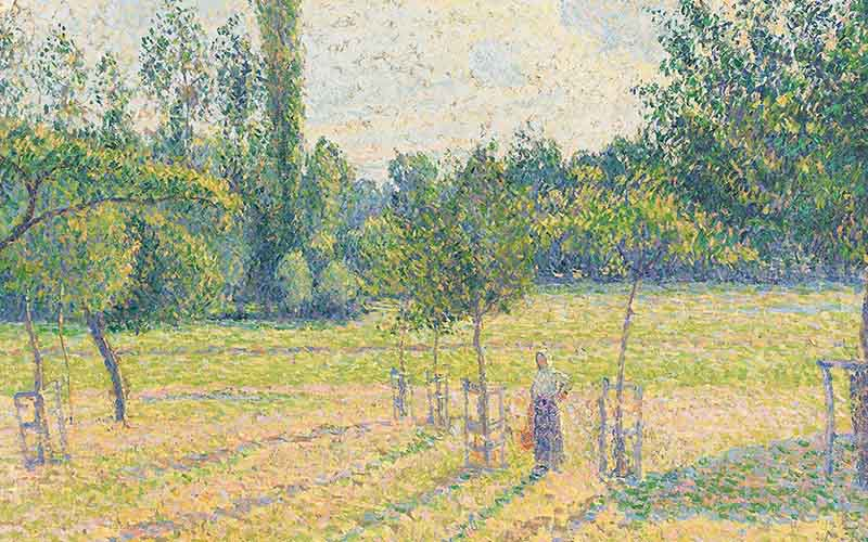 Camille Pissarro, 'Late Afternoon in our Meadow', 1887 © The National Gallery, London