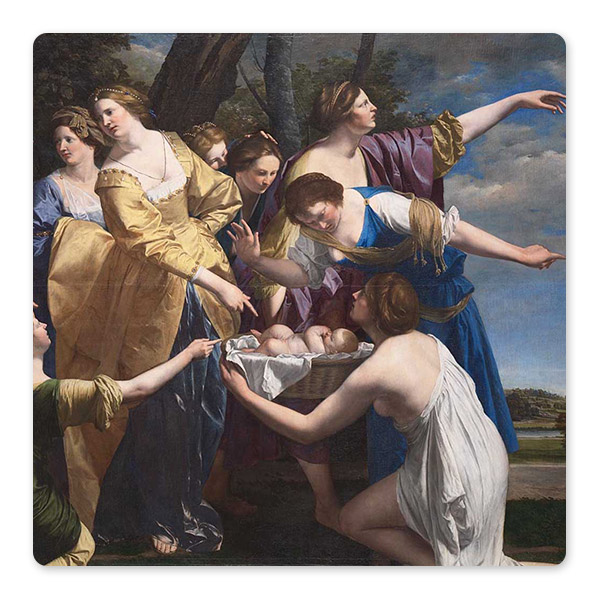 Orazio Gentileschi, 'The Finding of Moses', early 1630s ©️ The National Gallery, London