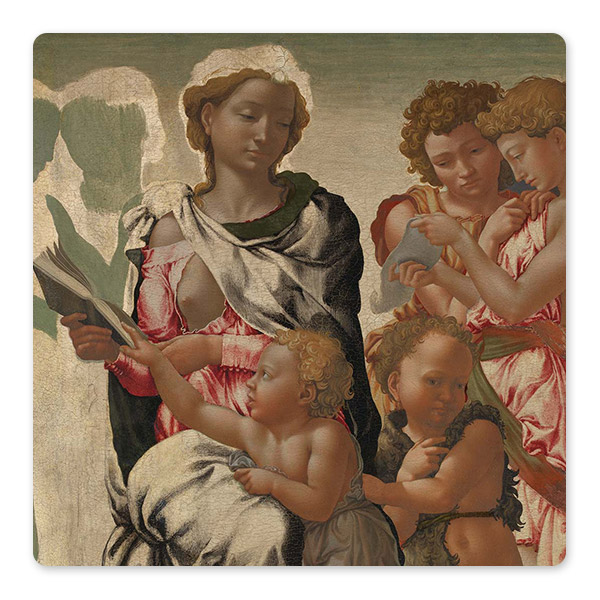 Michelangelo, ''The Manchester Madonna'', about 1497, possibly as early as 1494 © The National Gallery, London
