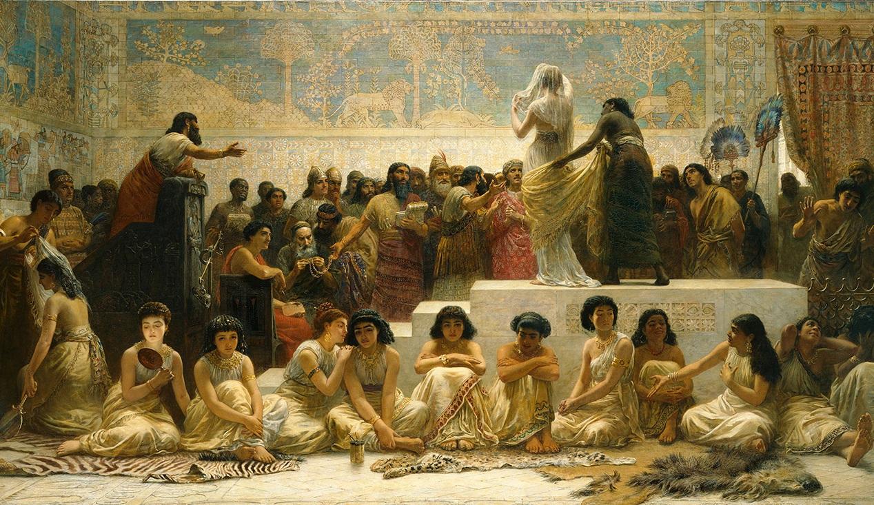 Edwin Long, The Babylonian Marriage Market, 1875 © Royal Holloway, University of London