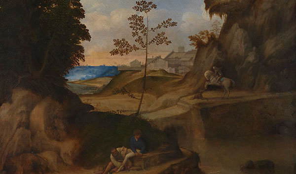 Giorgione, Il tramonto (sunset), 1506-10 © The National Gallery
