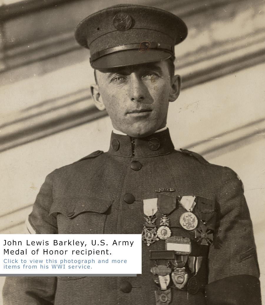 John Lewis Barkley, Medal of Honor Recipient