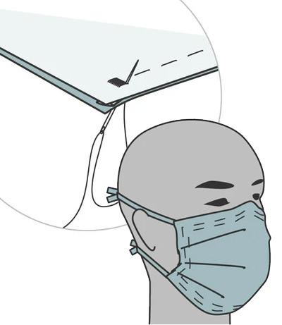 Illustration of face mask