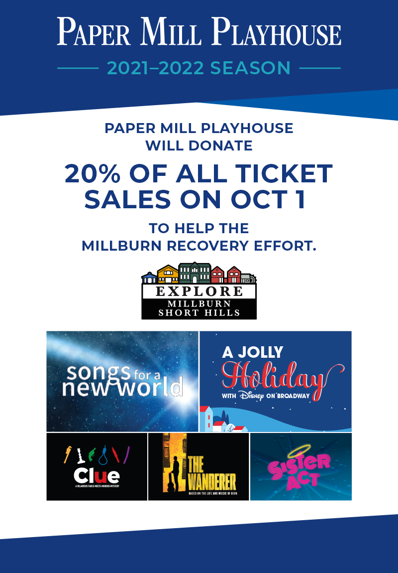 20% of all tickets sales on Oct 1 will be donated to help support the Millburn Recovery Effort.