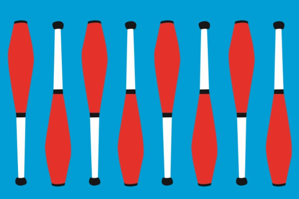 image of juggling batons