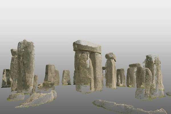 point-cloud image of Stonehenge