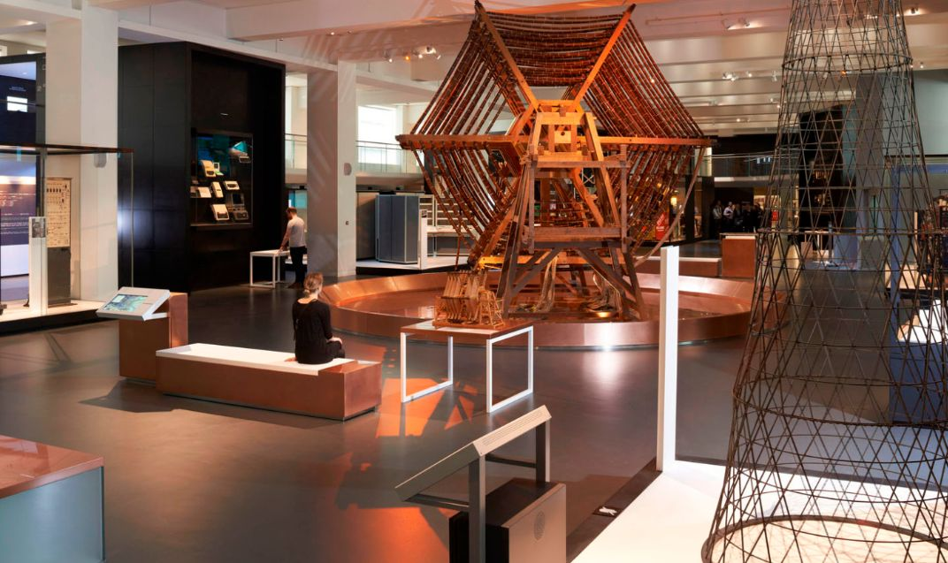 Photograph of the information age gallery at the science museum.