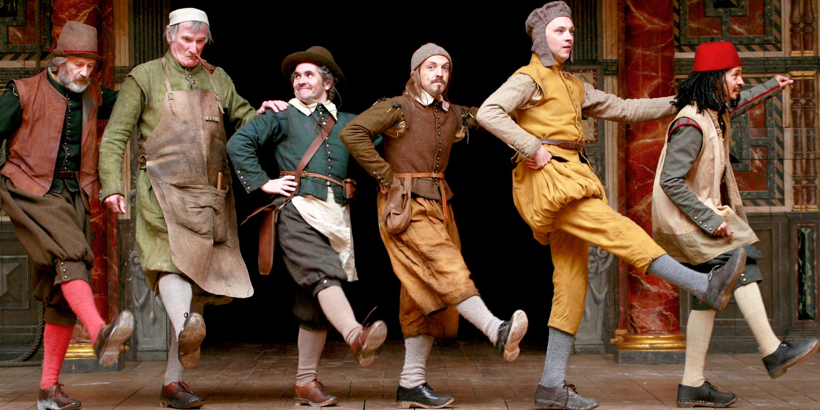 [IMAGE] The Mechanicals from the Globe's 2014 production of A Midsummer Night's Dream
