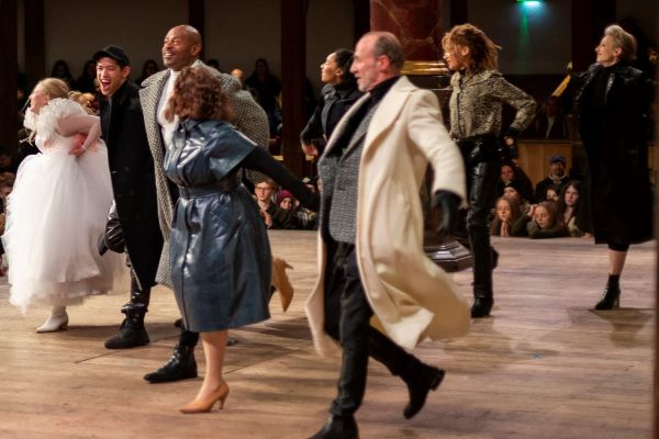 [IMAGE] Actors in a previous Playing Shakespeare with Deutsche Bank production dance the final jig.