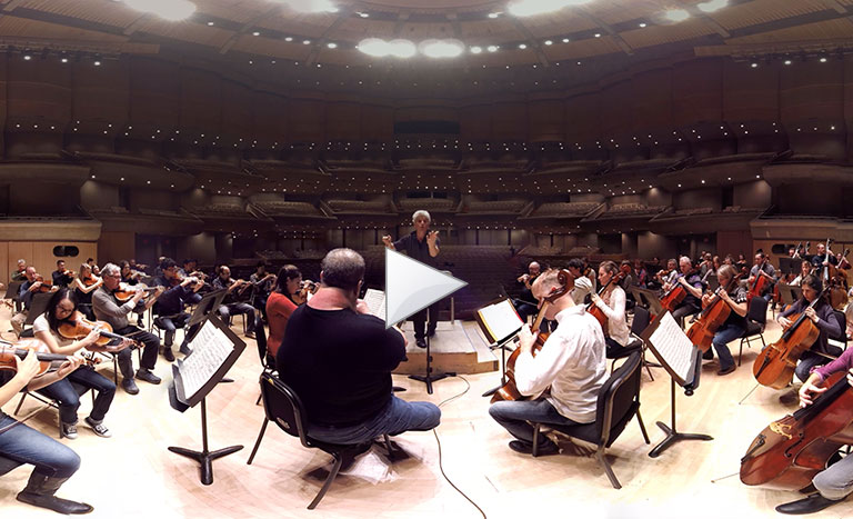 360-degree video: Step on stage with the TSO