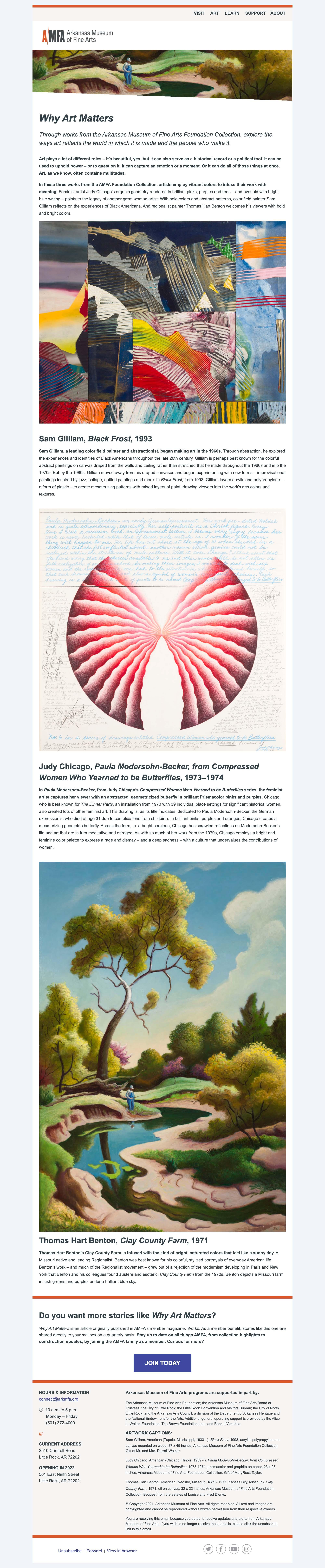 Question: Why does art matter? - desktop view