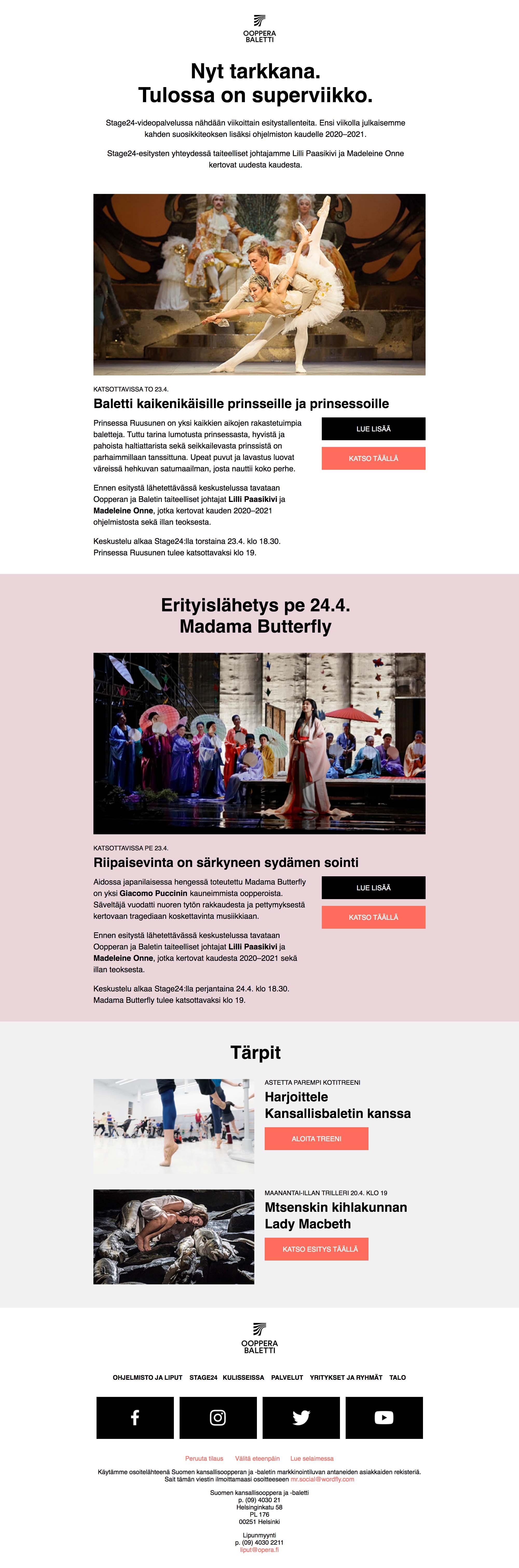 Tulossa superviikko: uuden kauden julkistus ja Prinsessa Ruusunen - desktop view