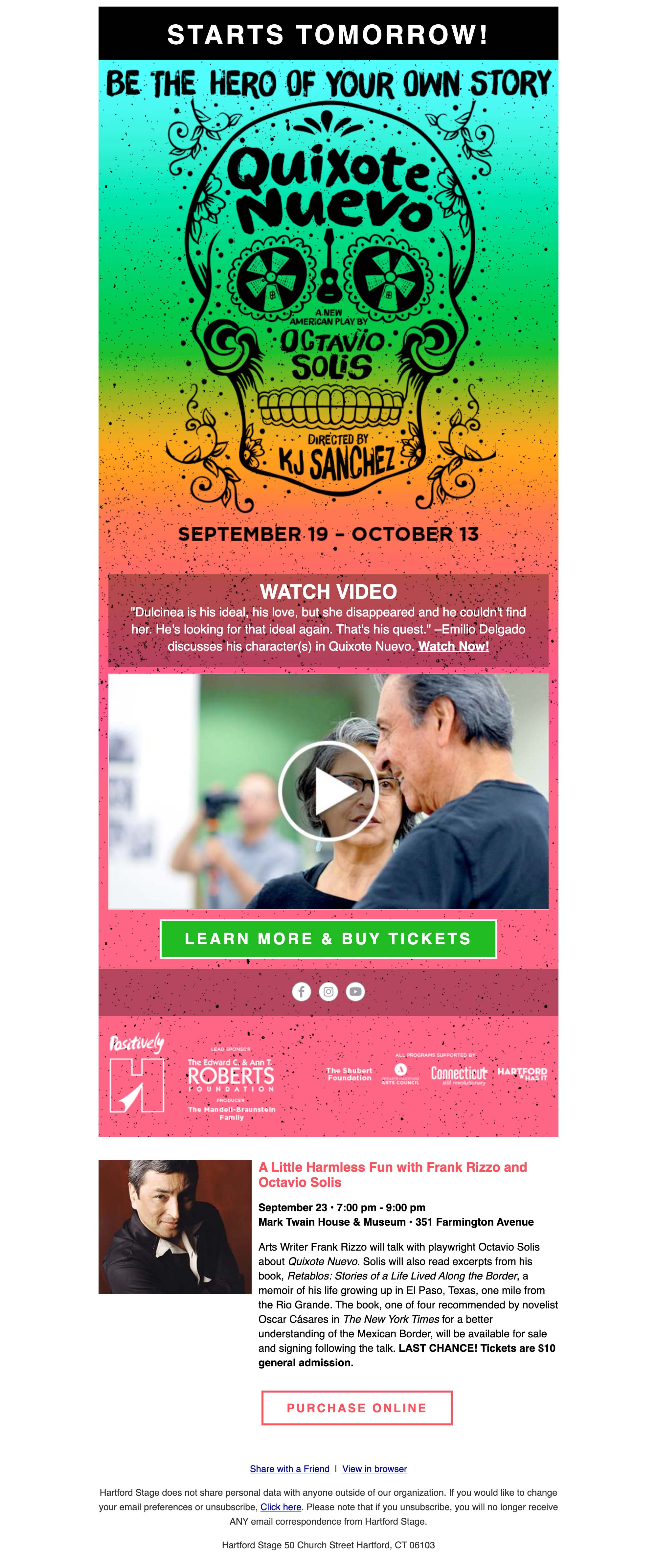 See Sesame Street's Luis (Emilio Delgado) in Quixote Nuevo - desktop view