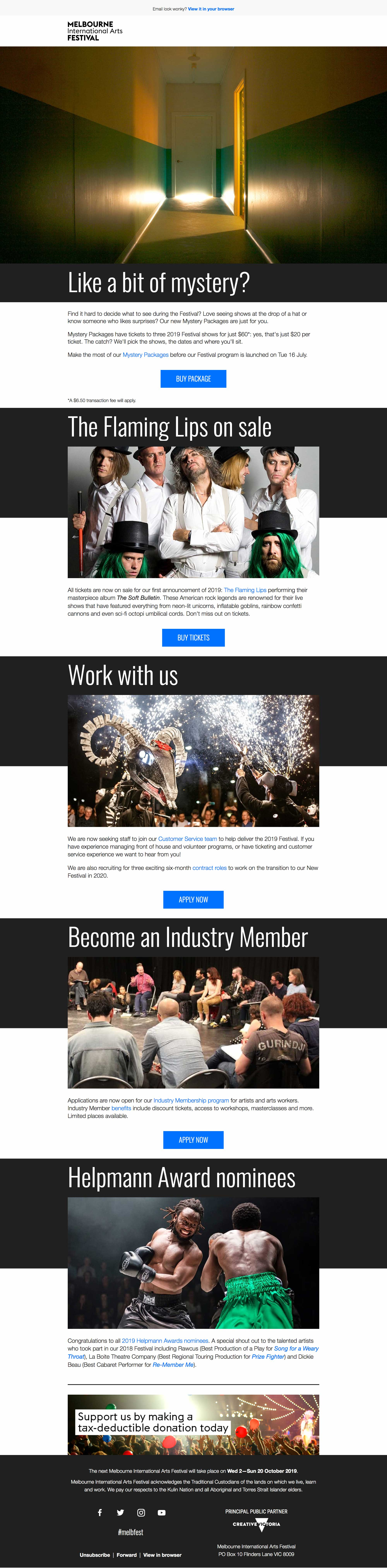 Mystery Packages, jobs, Industry Membership and more - desktop view