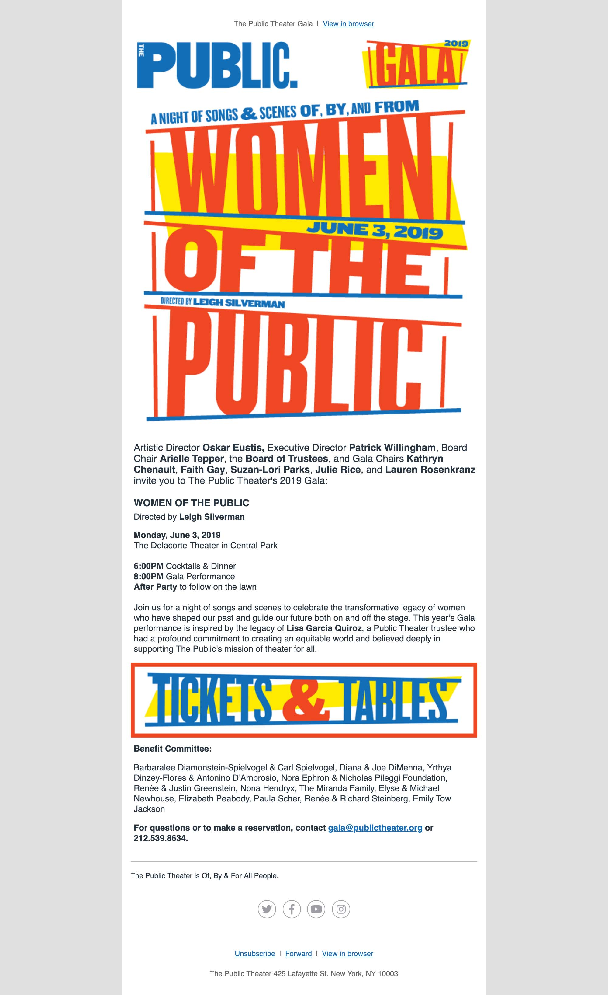 Join Us for our 2019 Gala: WOMEN OF THE PUBLIC - desktop view