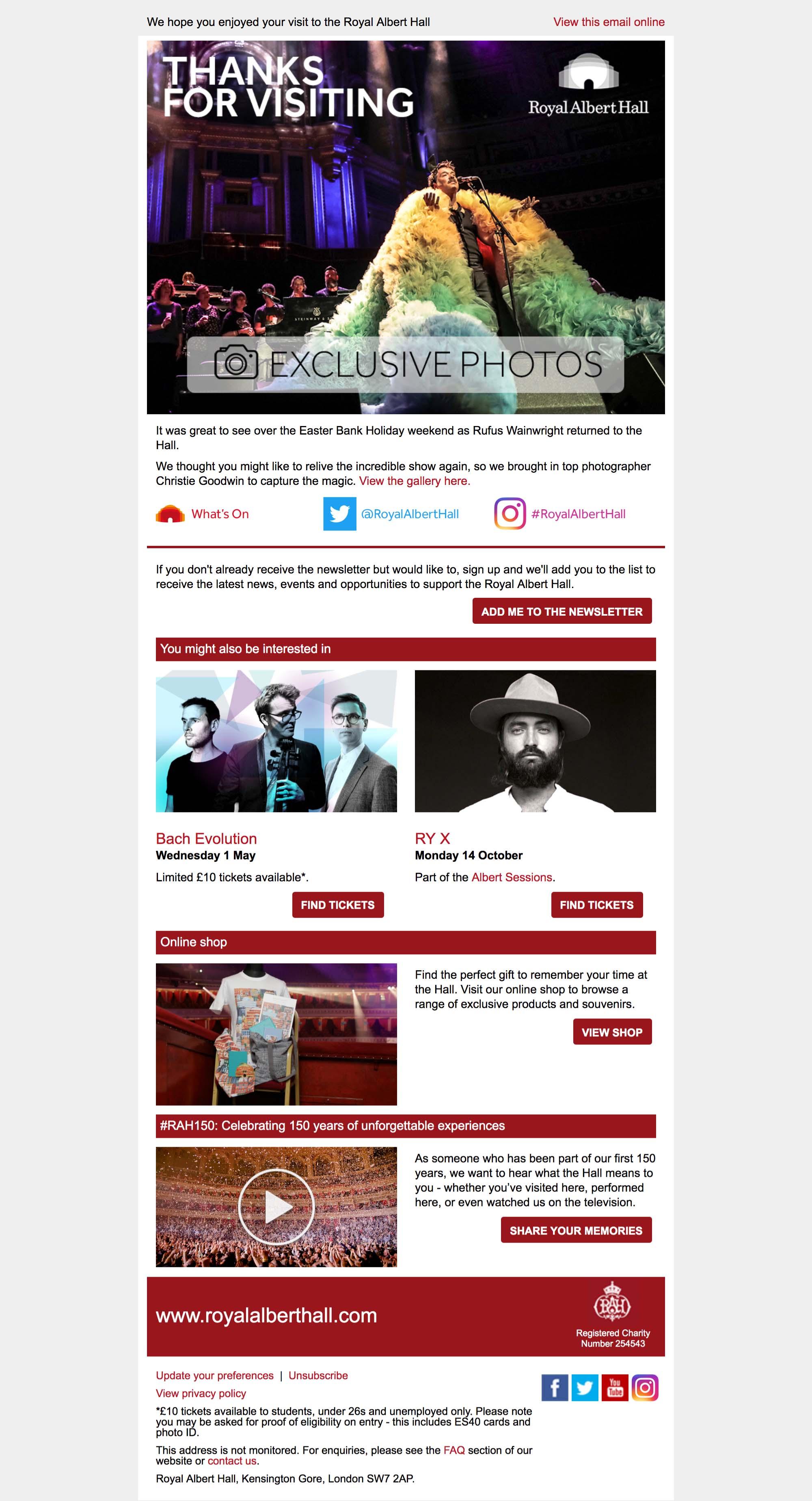 Exclusive photos: Rufus Wainwright returns to the Royal Albert Hall - desktop view