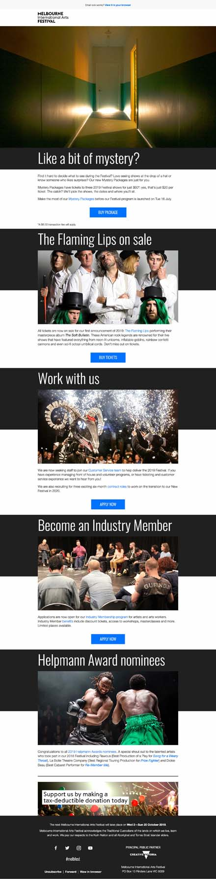 Mystery Packages, jobs, Industry Membership and more
