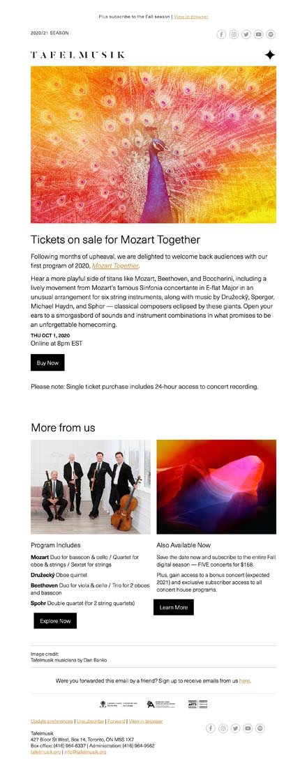 2021 Mozart Together STIX On Sale + Subs