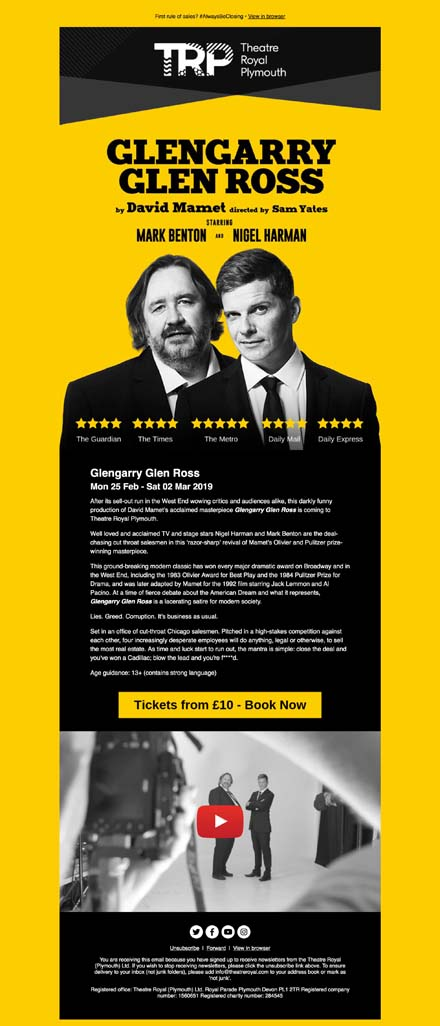 Glengarry Glen Ross comes to Plymouth! #PresentsForHim