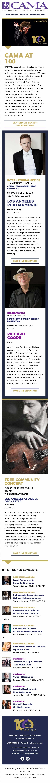 Perlman, Salonen, McGegan — CAMA's Centennial — 100th Concert Season — Season Subscriptions Still Available! - mobile view