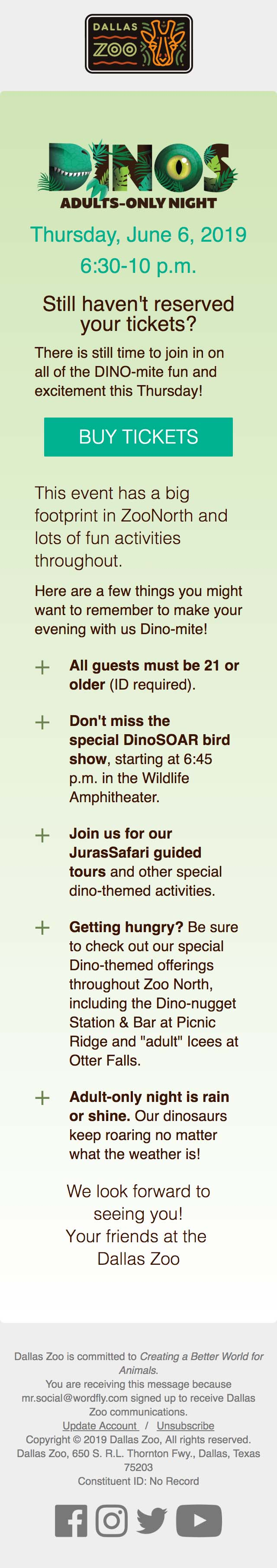 Join Us For Adults-Only Dino Night Tomorrow! - mobile view