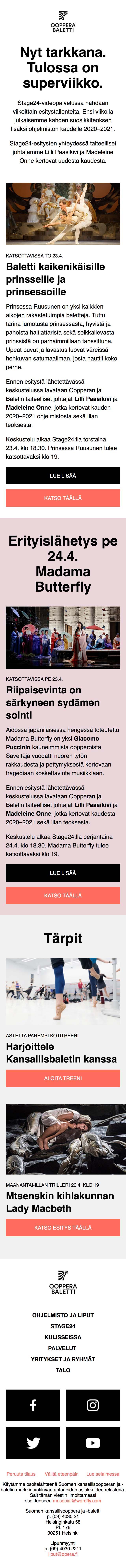 Tulossa superviikko: uuden kauden julkistus ja Prinsessa Ruusunen - mobile view