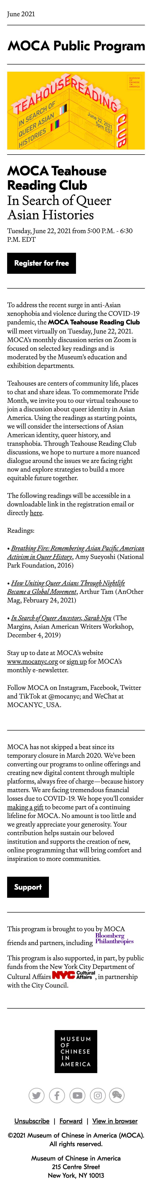 MOCA Teahouse Reading Club: In Search of Queer Asian Histories - mobile view