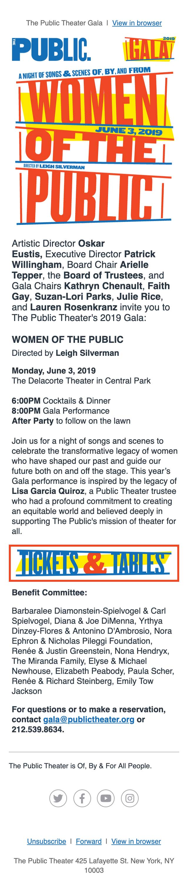 Join Us for our 2019 Gala: WOMEN OF THE PUBLIC - mobile view